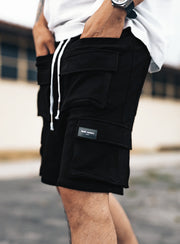 Utility Cargo Shorts V1 in Black