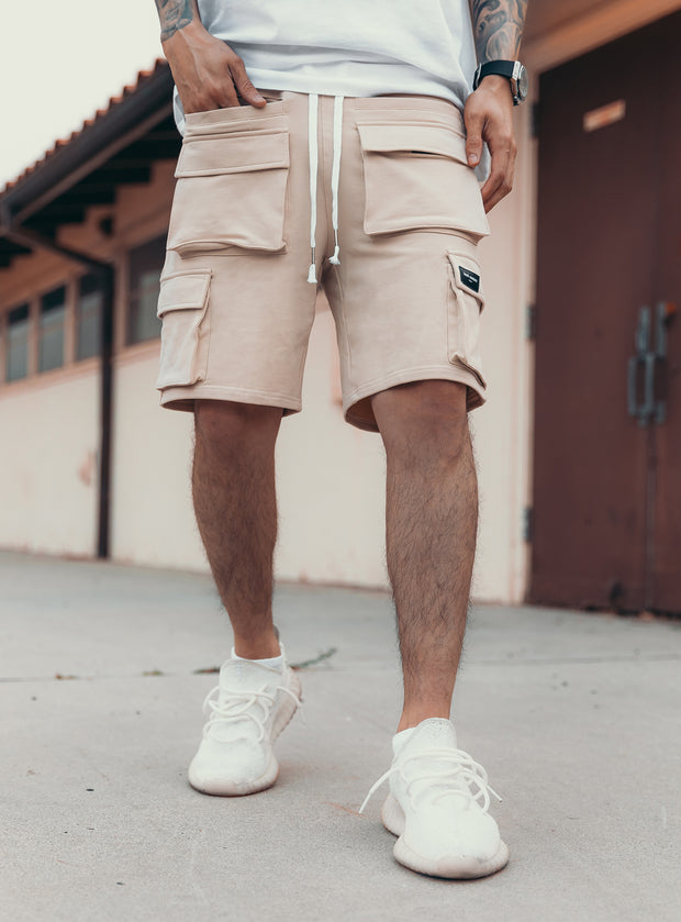 Utility Cargo Shorts V1 in Cream