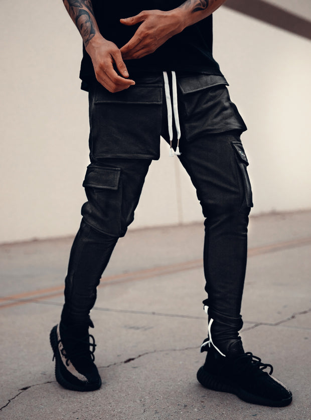 Utility Cargo Pants V1 in Black