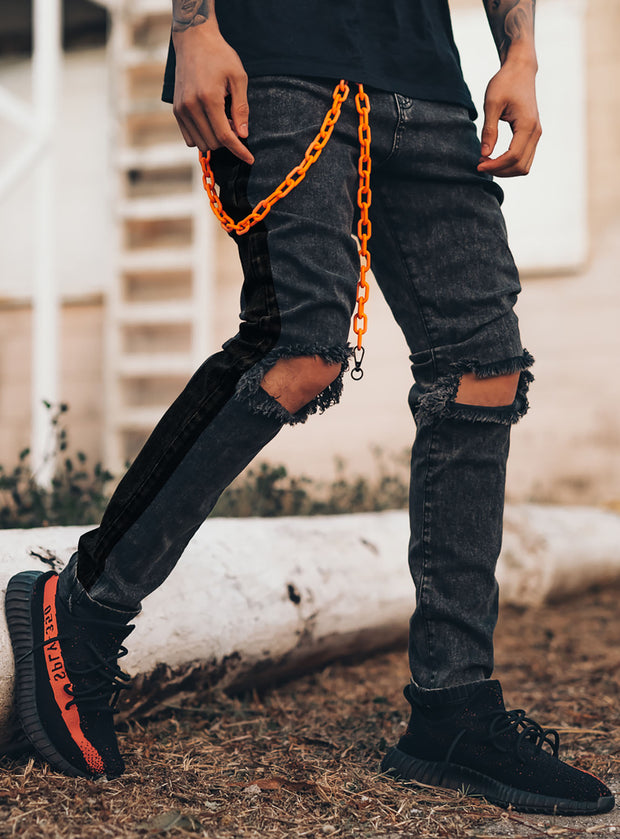 Unchained Jeans V1 in Acid Black