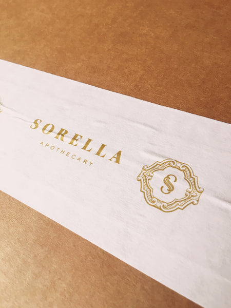 Sorella Apothecary packing tape
