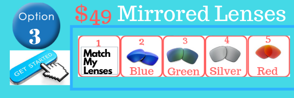 mirrored replacement sunglass lenses