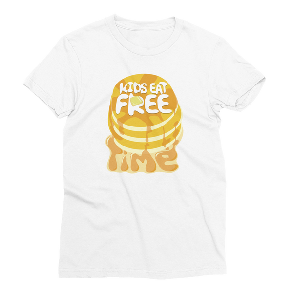 "Kids Eat Free ""Time"" - Women's Short Sleeve T-Shirt"