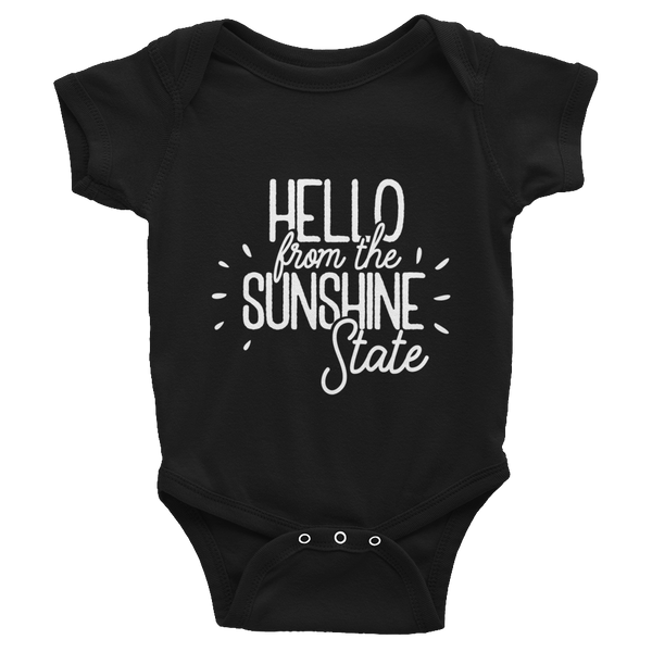 Hello from the Sunshine State - Infant Bodysuit Black