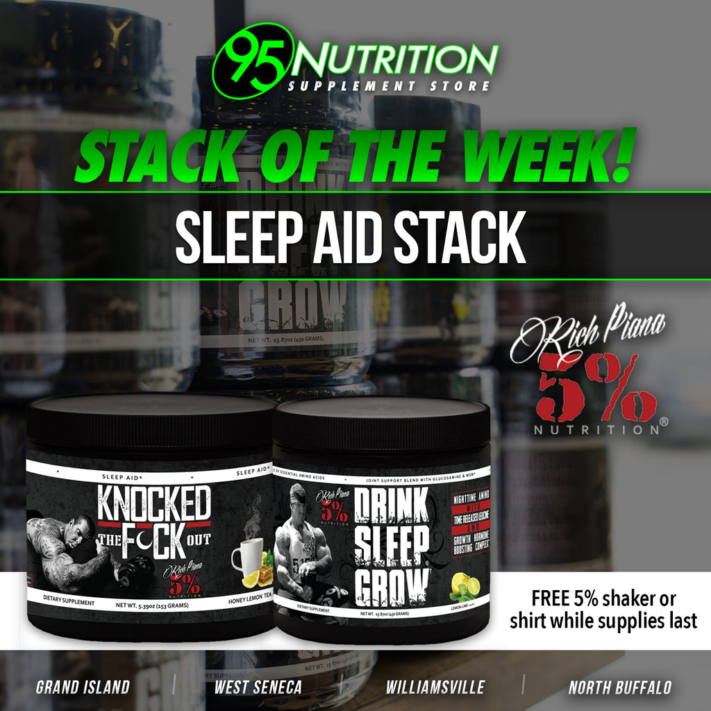 SUPPLEMENT OF THE WEEK: 5% Drink Sleep Grow