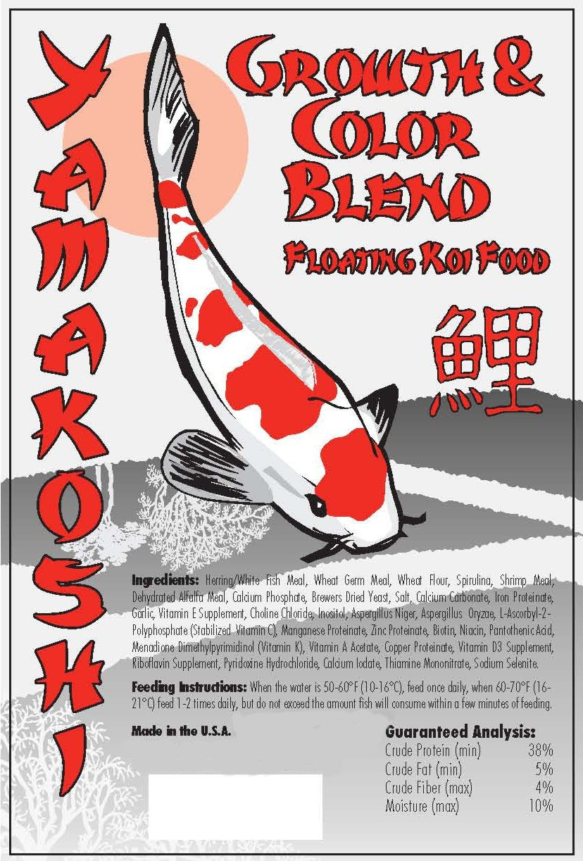 20 Pound Box Yamakoshi Growth & Color Pond Floating Pellets Pond KOI Food NO GMO'S * ALL NATURAL * INFUSED W/ PRO-BIOTICS