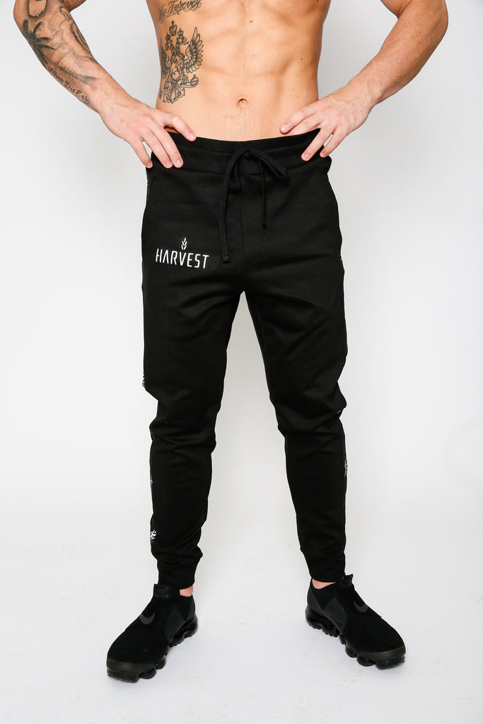Black Falling Torch Joggers