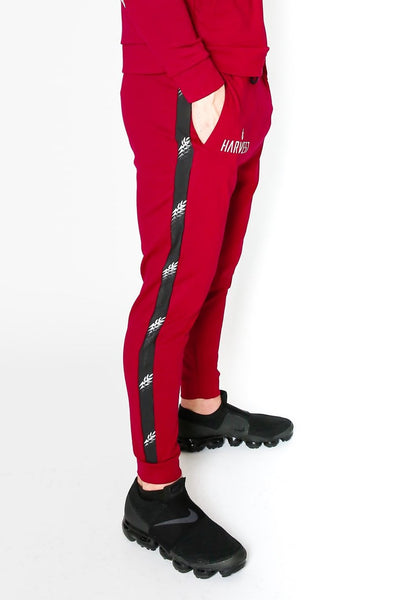 Maroon Falling Torch Joggers