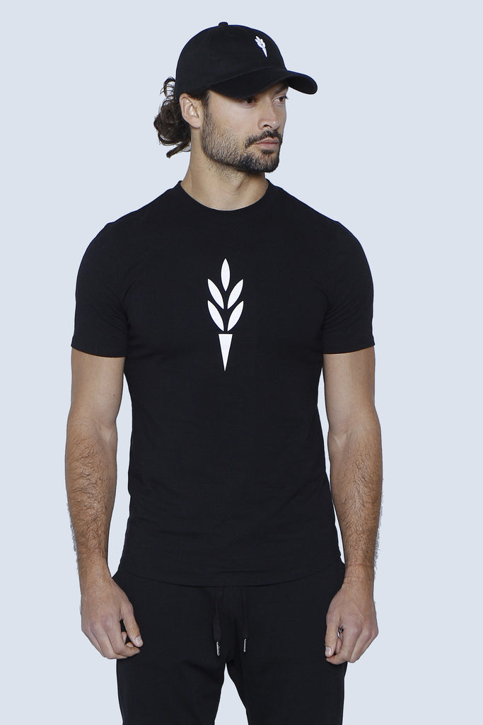 """The Harvest"" Leaf Torch Tee Front"