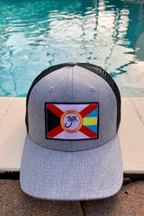 Salty Palms Trucker hat- Flahamas logo