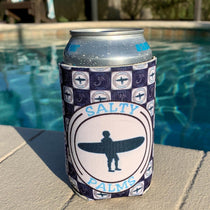 Salty Palms Koozie- Surfer logo