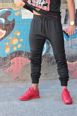ADNSGR (Black/Black) Track Pants - Be Activewearman