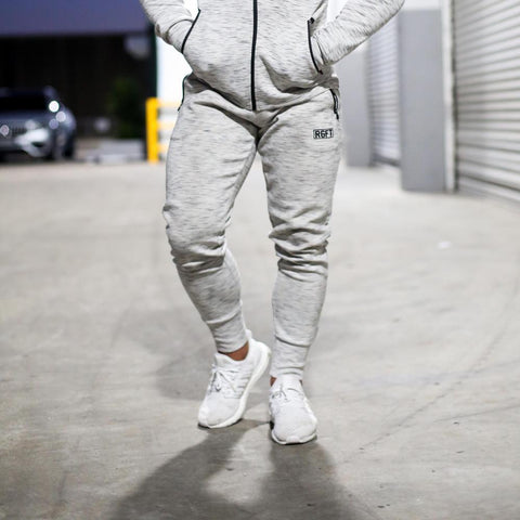 Grey RGFT Thermal Straight-Leg Trackpants