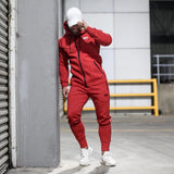 Red RGFT Thermal Straight-Leg Trackpants