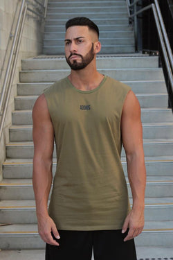 Adonis (Khaki) Muscle Tank - Be Activewearman