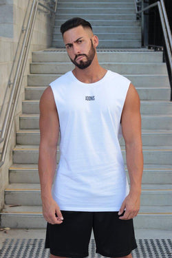 Adonis (White) Muscle Tank - Be Activewearman