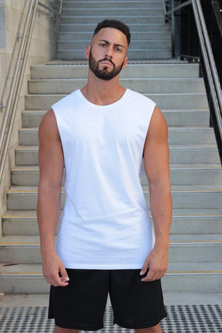 Essentials (White) Muscle Tank - Be Activewearman