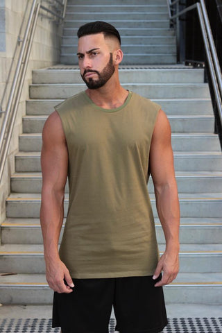Essentials (Khaki) Muscle Tank