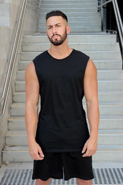 Essentials (Black) Muscle Tank - Be Activewearman