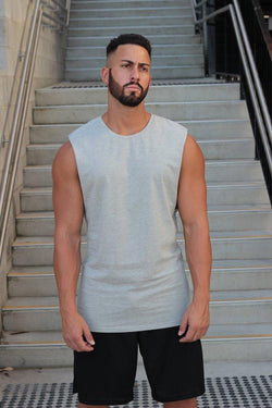 Essentials (Grey Marle) Muscle Tank