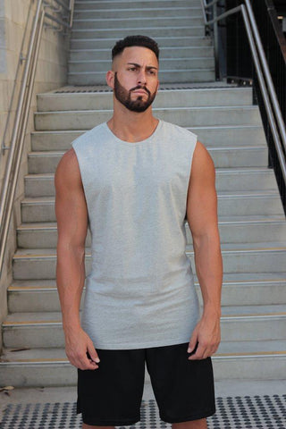 Essentials (Grey Marle) Muscle Tank - Be Activewearman