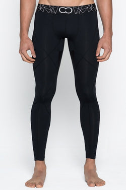 L12 BLK AKTIV COMPRESSION TIGHTS - Be Activewearman