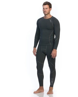 Mens Long Sleeve Compression Top - Charcoal - Be Activewearman