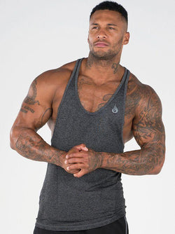 Seamless T-back - Charcoal - Be Activewearman