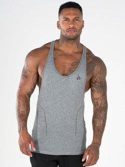 Seamless T-back - Grey - Be Activewearman