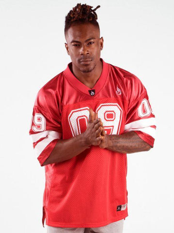 Mens Varsity Jersey - Red - Be Activewearman