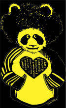 Load image into Gallery viewer, Black and Yellow Afropanda Blerd Hoodie