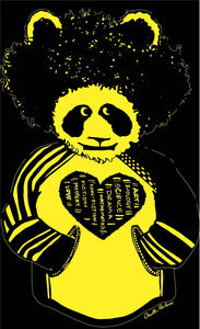 Black and Yellow Afropanda Blerd Hoodie