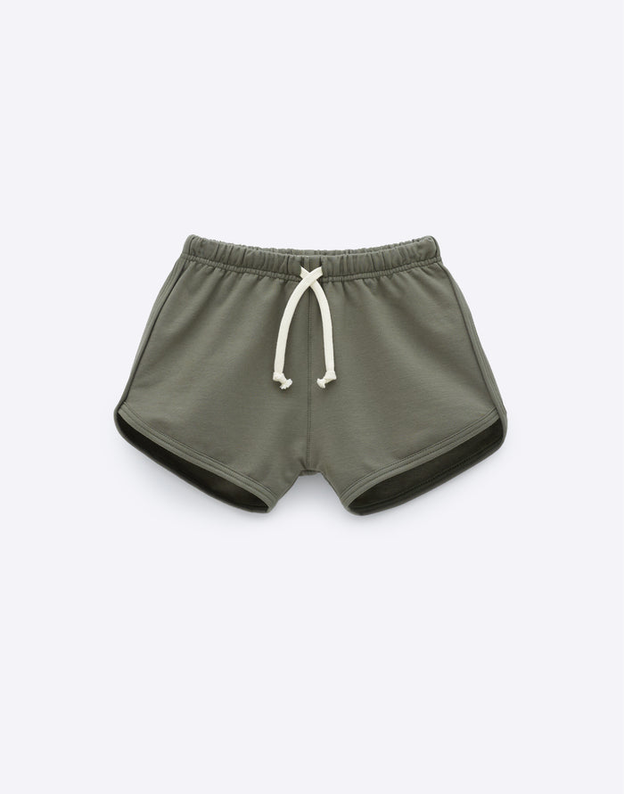 Essentials Track Short - Moss