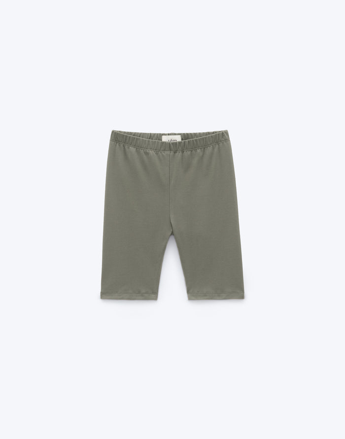 Essentials Biker Short - Moss