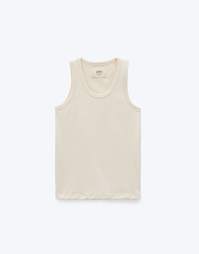 Essentials Racerback Tank - Cream