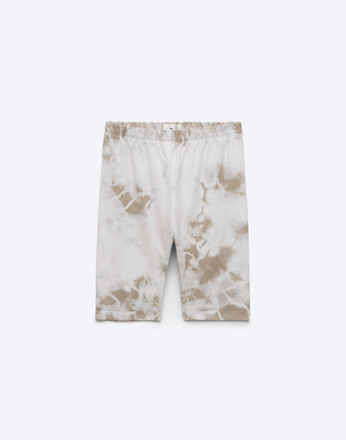 Biker Short - Sand Crystal Wash Dye