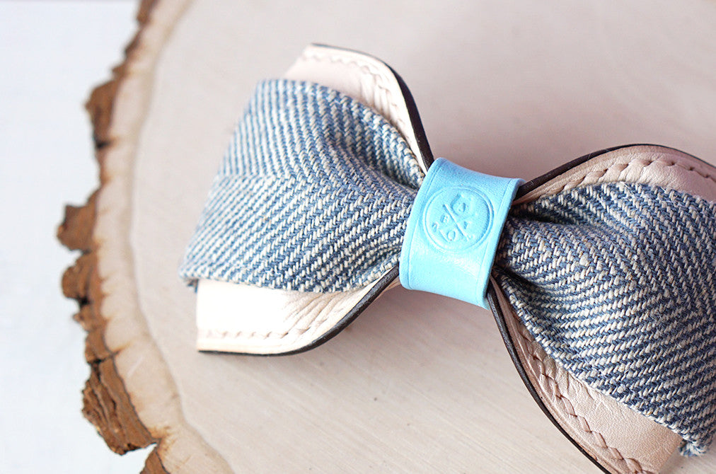Leo || Ice Blue Herringbone