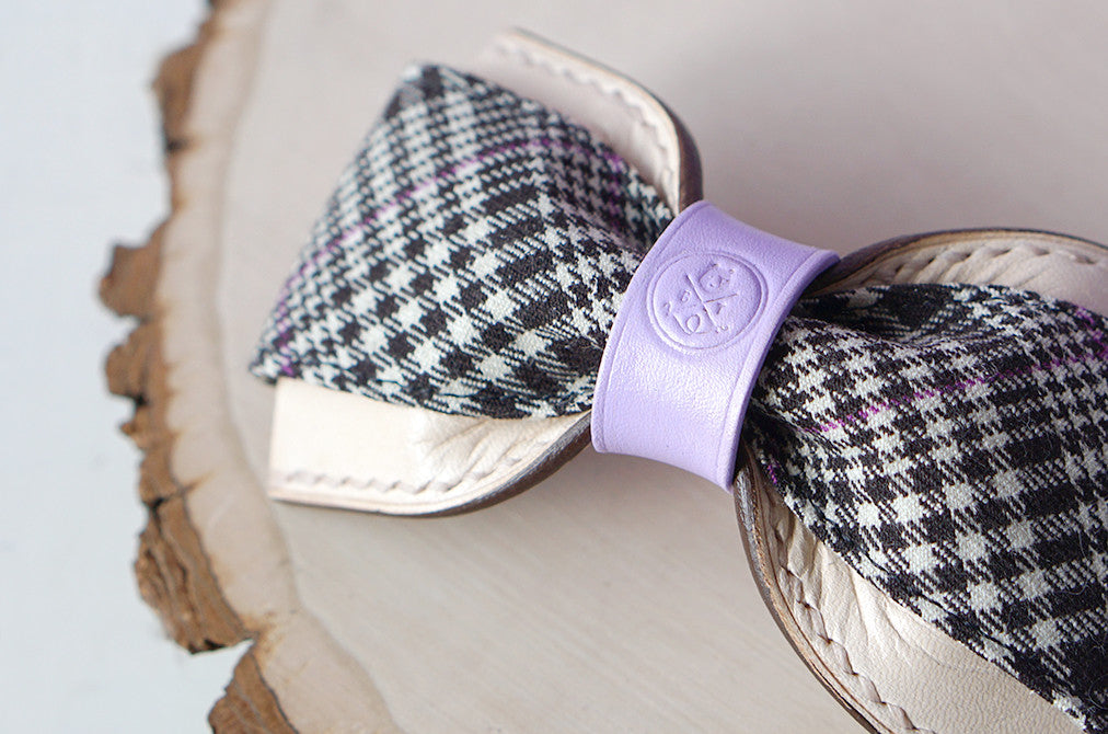 Penny || Lilac and Gray Plaid