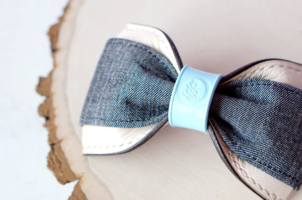 Perry || Grey Denim & Baby Blue