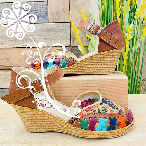 Buckle Wedges Women Shoes - Butterfly