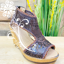 Brown Spring Wedges Women Shoes