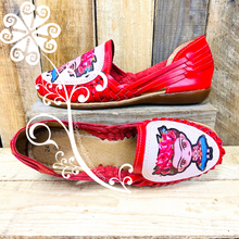 Frida Flat Shoes- Red Panchitos
