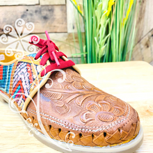 Multicolor Triangules - Loafers Artisan Leather Women Shoes