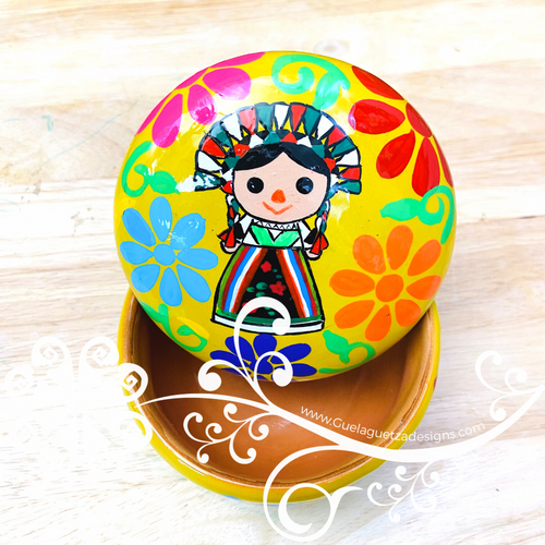Hand Painted Ceramic Jewelry Box