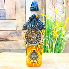 Mayan Calendar Glass Bottle Container