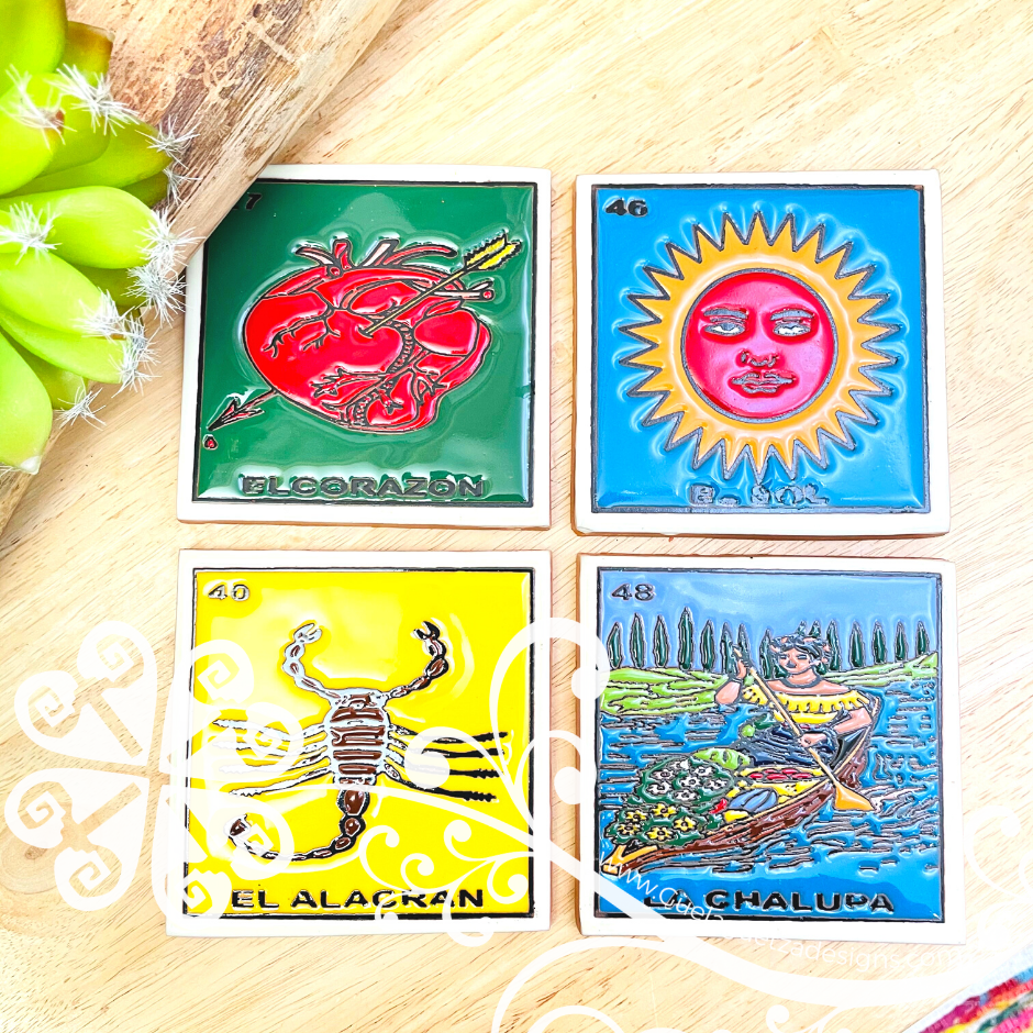 Mexican Loteria Coaster Set