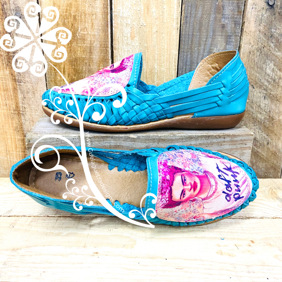 Frida Flat Shoes- Teal Panchitos