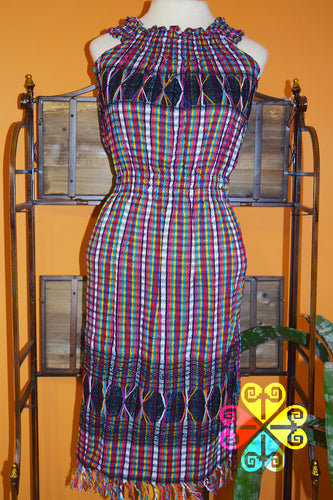 Vestido Telar Cuello de Tortuga/ Turtle Neck  Loom Dress