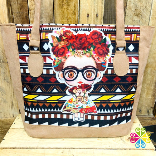 Little Frida with Glasses Roses - Beige