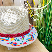 White Otomi Fedora Palm Hat